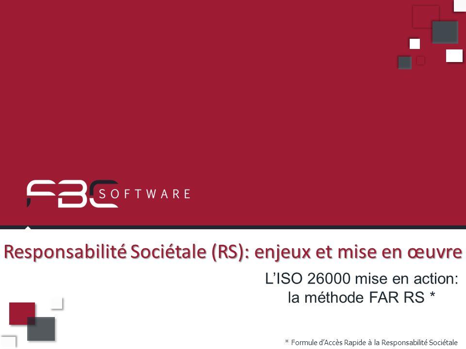 Responsabilité Sociétale (RS): enjeux et mise en œuvre