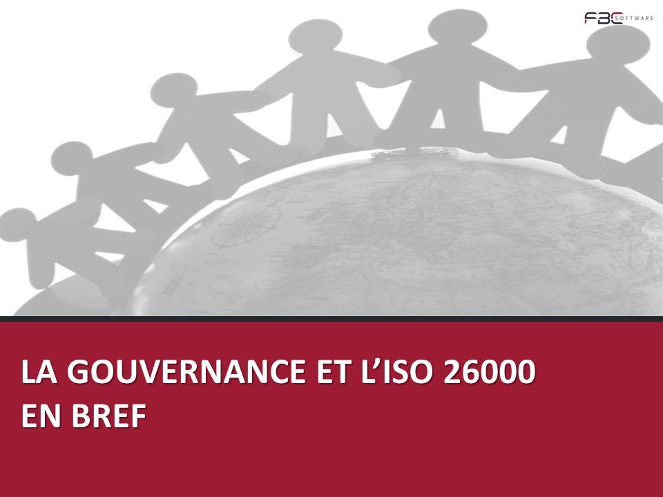 La Gouvernance et l'ISO 26000 en brEF