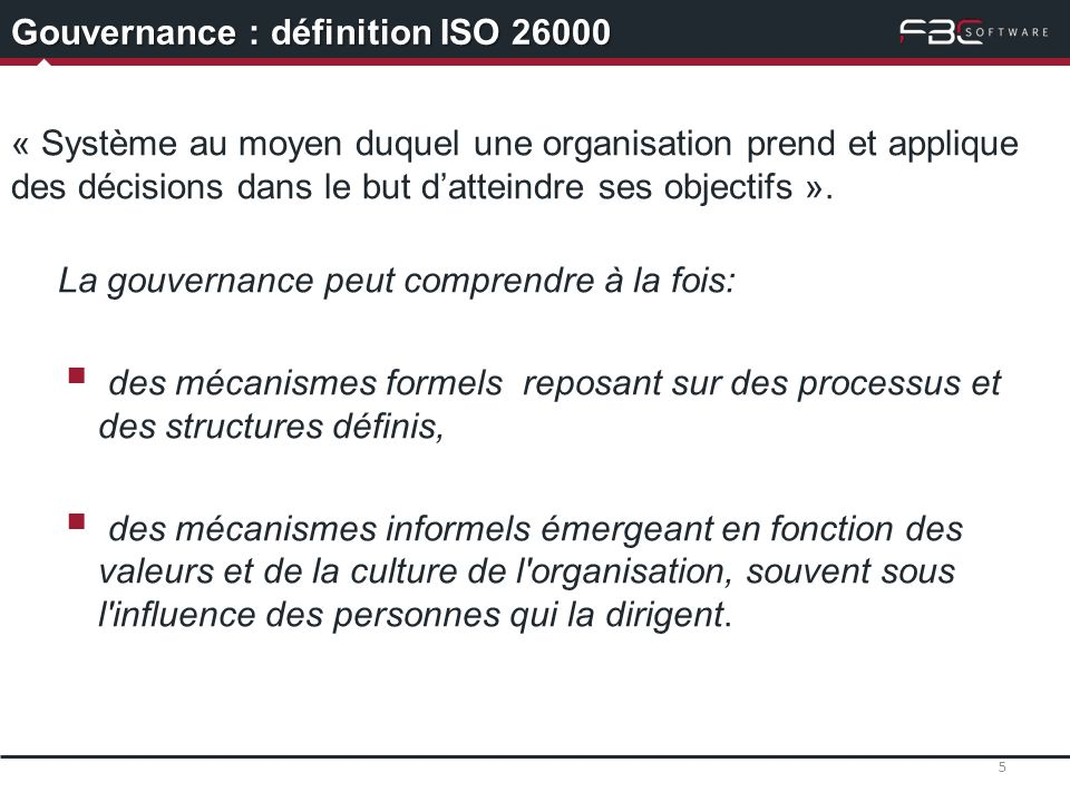 Gouvernance : définition ISO 26000