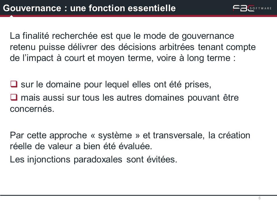 Gouvernance : une fonction essentielle