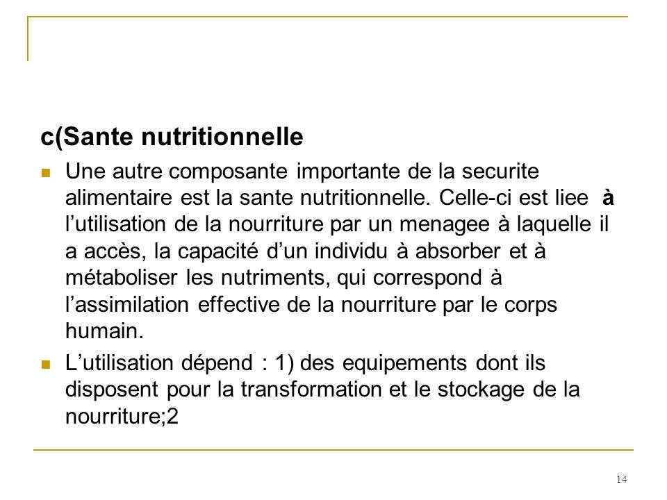 c(Sante nutritionnelle