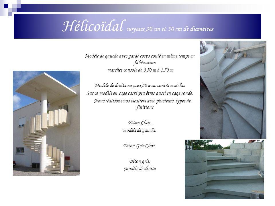 Hélicoïdal noyaux 30 cm et 50 cm de diamètres