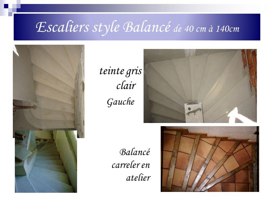 Escaliers style Balancé de 40 cm à 140cm