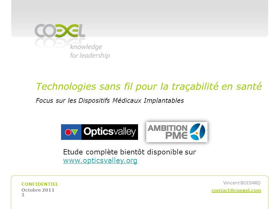 Technologies sans fil pour la traçabilité en santé