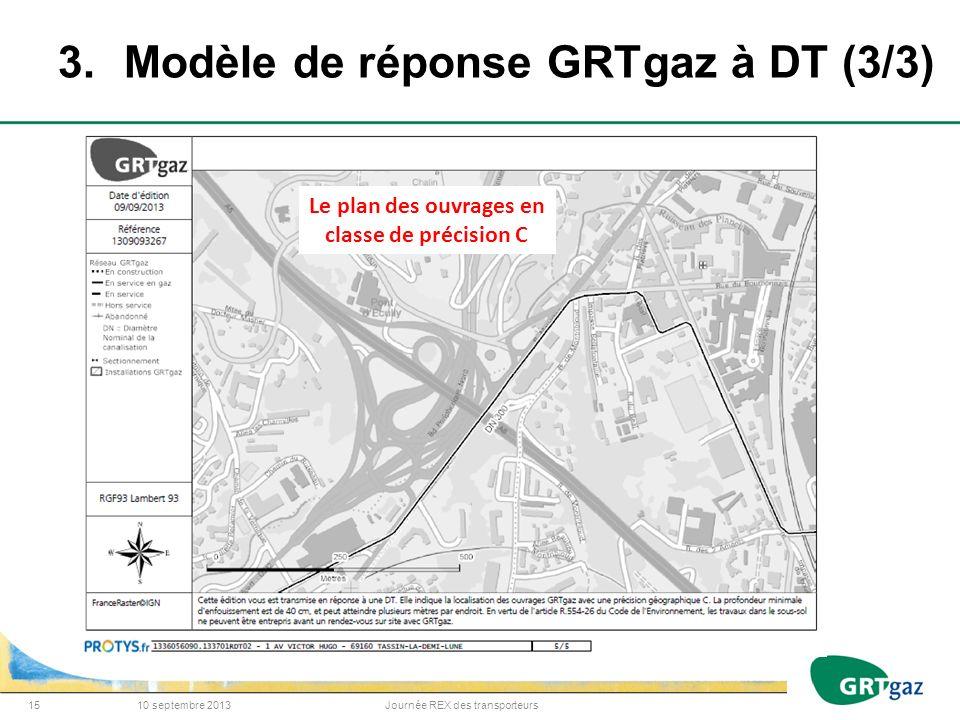 3. Modèle de réponse GRTgaz à DT (3/3)