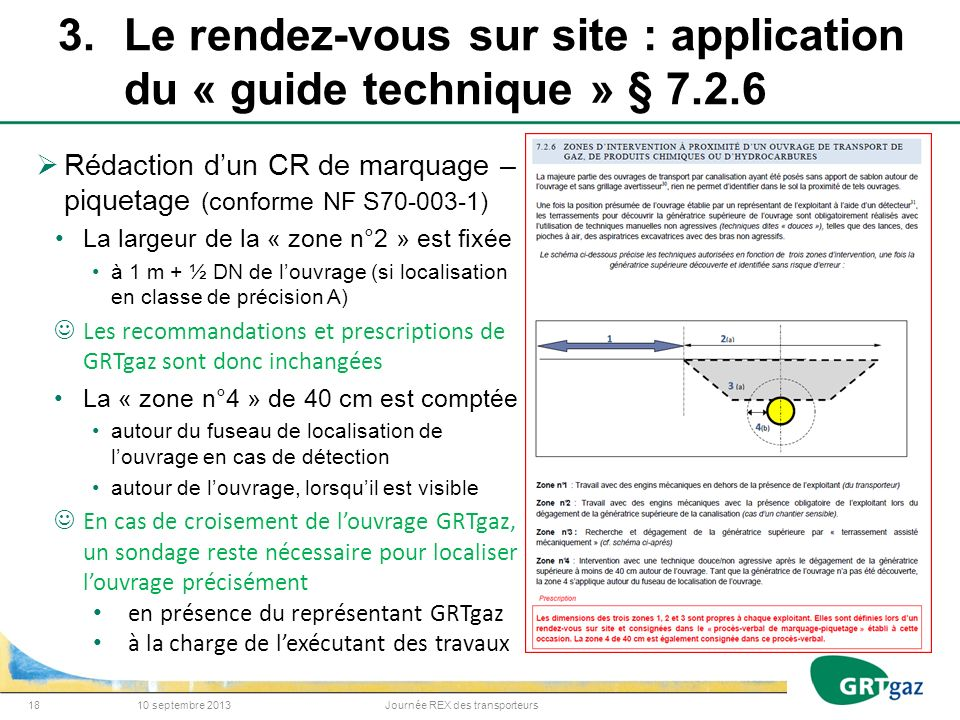 3. Le rendez-vous sur site : application du « guide technique » § 7. 2