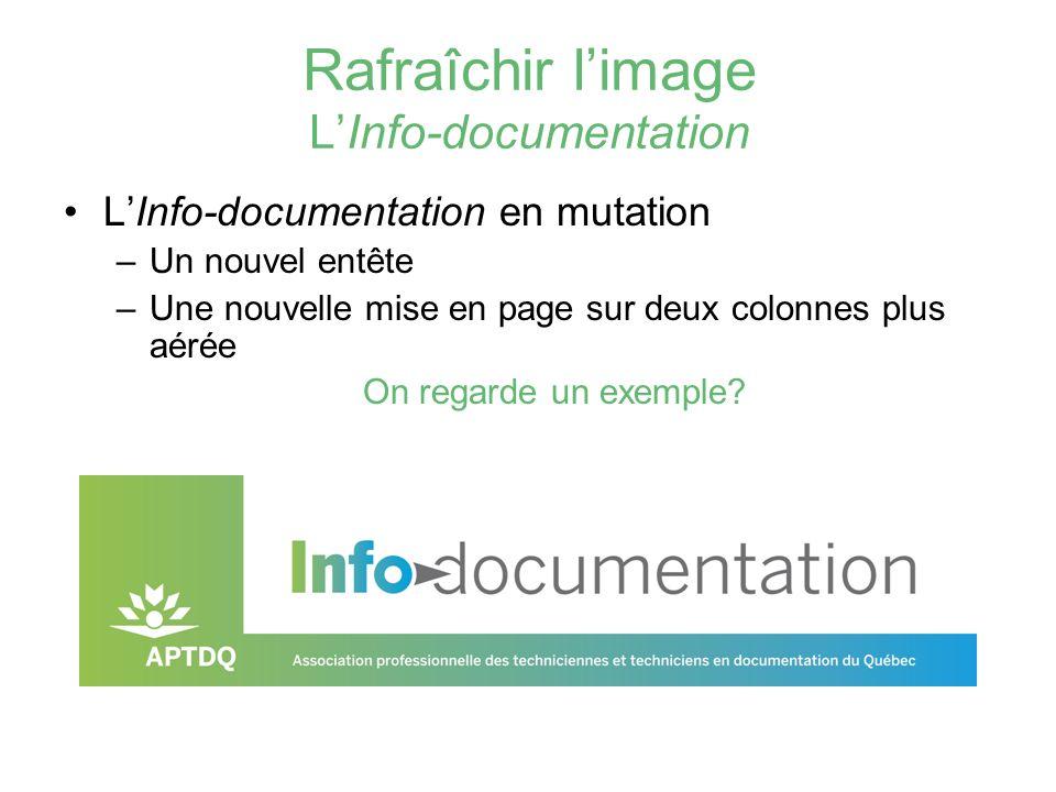 Rafraîchir l'image L'Info-documentation