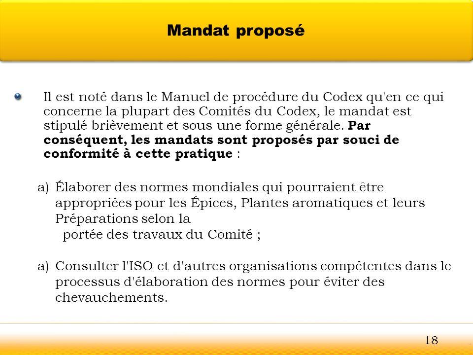 Mandat proposé Guntur.
