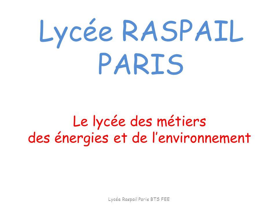 Le lycée des métiers des énergies et de l'environnement