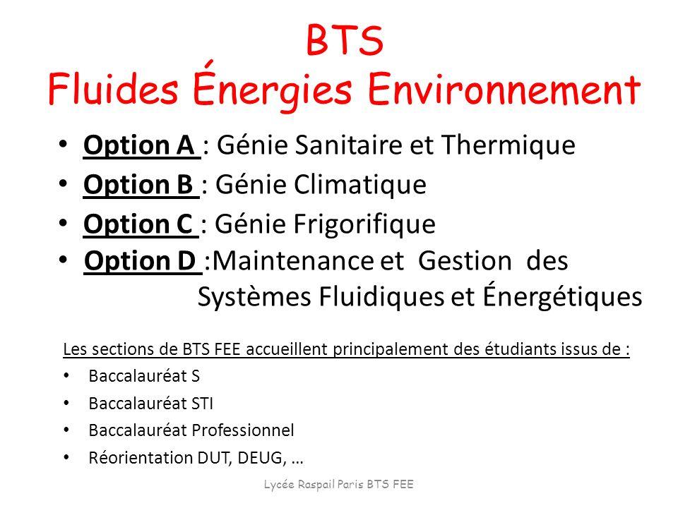 BTS Fluides Énergies Environnement