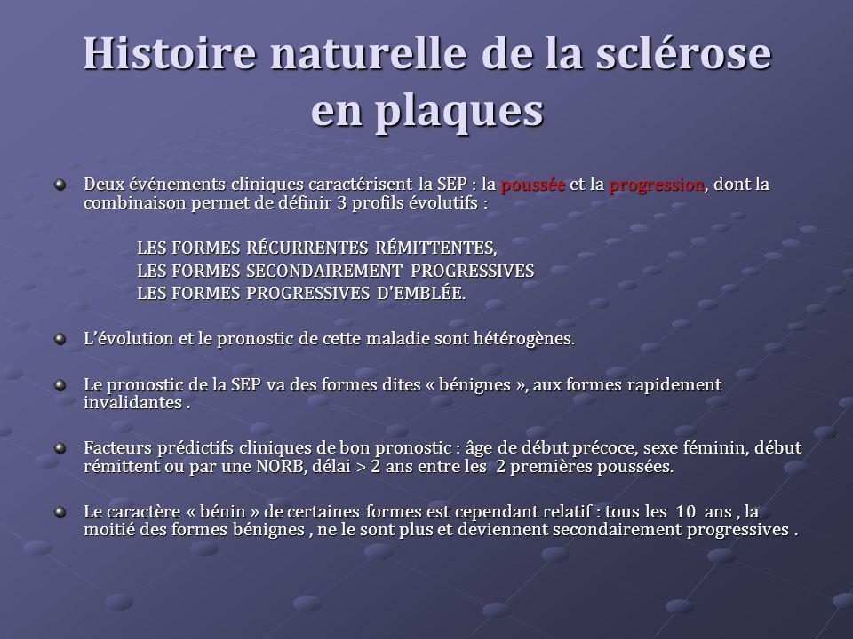 Histoire naturelle de la sclérose en plaques