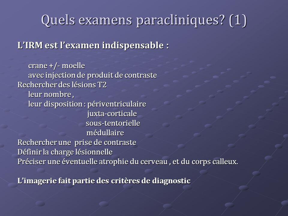 Quels examens paracliniques (1)