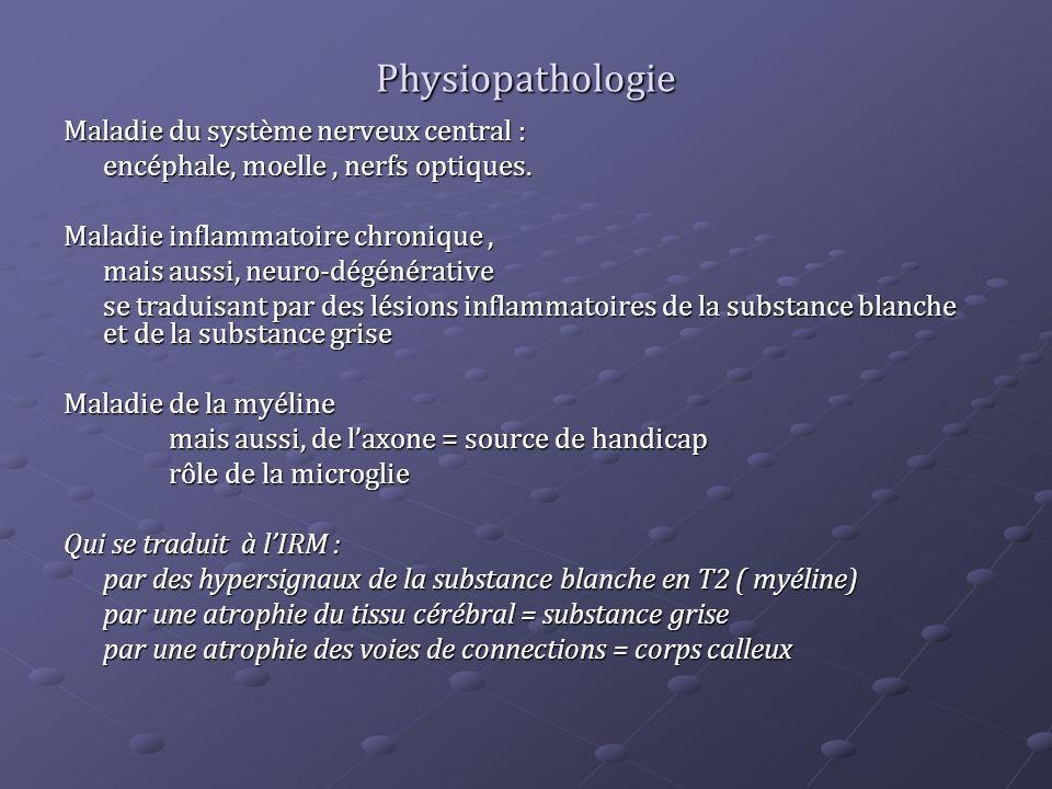 Physiopathologie Maladie du système nerveux central :