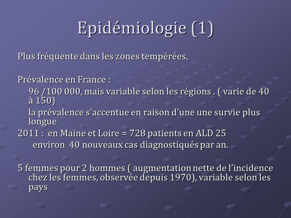 Epidémiologie (1) Plus fréquente dans les zones tempérées,