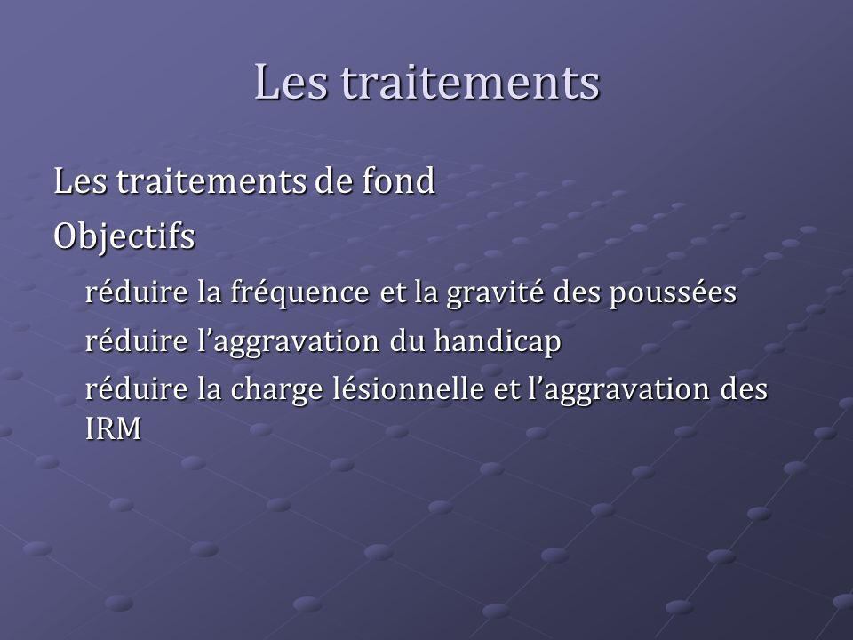 Les traitements Les traitements de fond Objectifs
