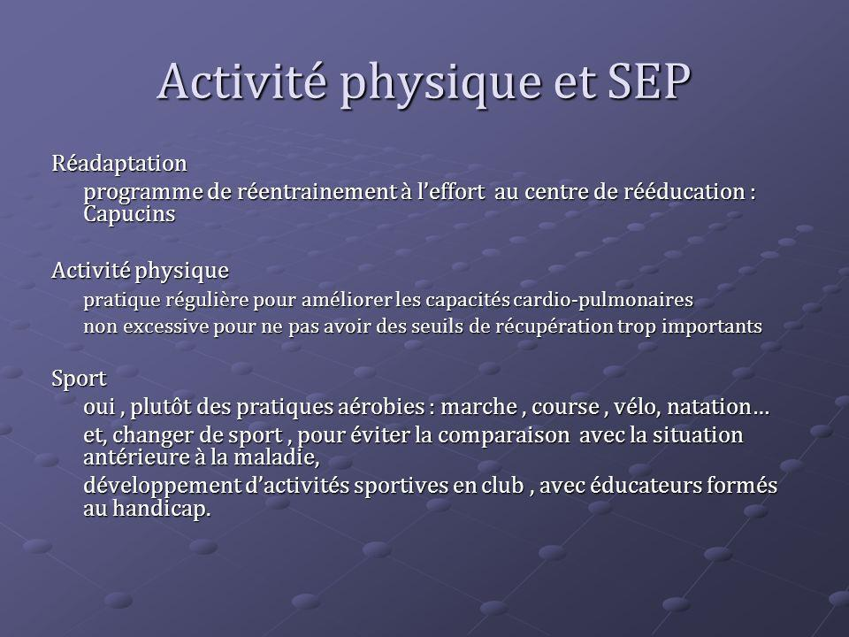 Activité physique et SEP