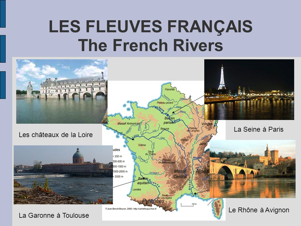 LES FLEUVES FRANÇAIS The French Rivers
