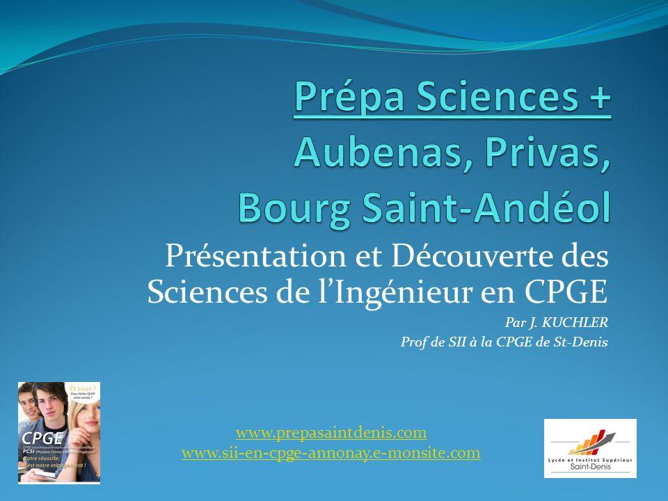 Prépa Sciences + Aubenas, Privas, Bourg Saint-Andéol