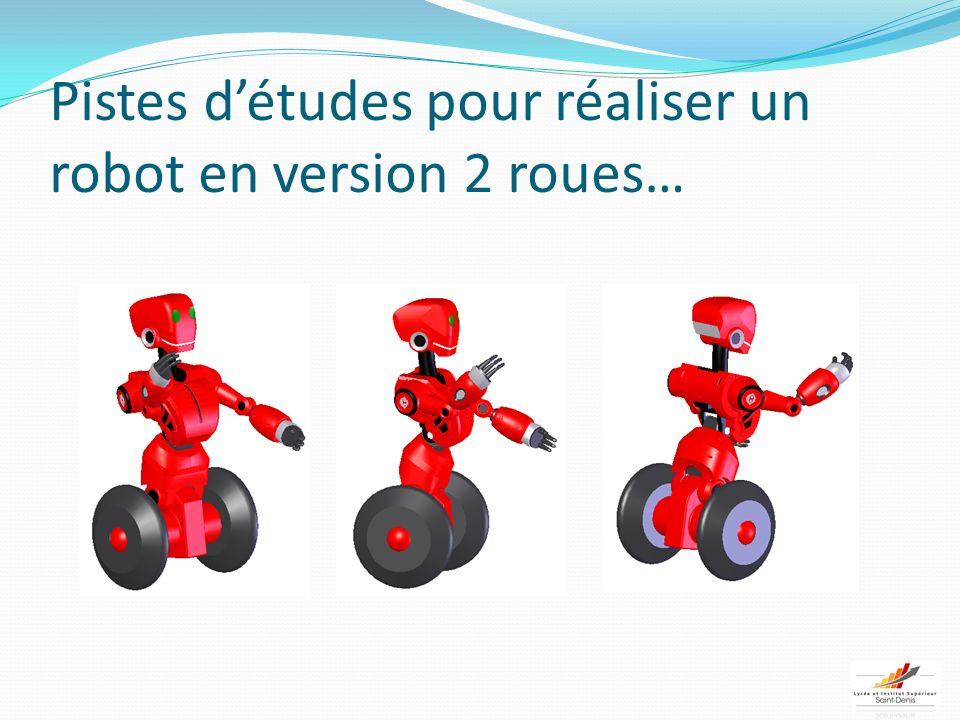 Pistes d'études pour réaliser un robot en version 2 roues…