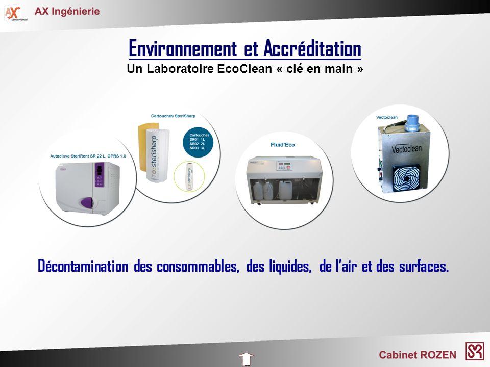 Environnement et Accréditation Un Laboratoire EcoClean « clé en main »