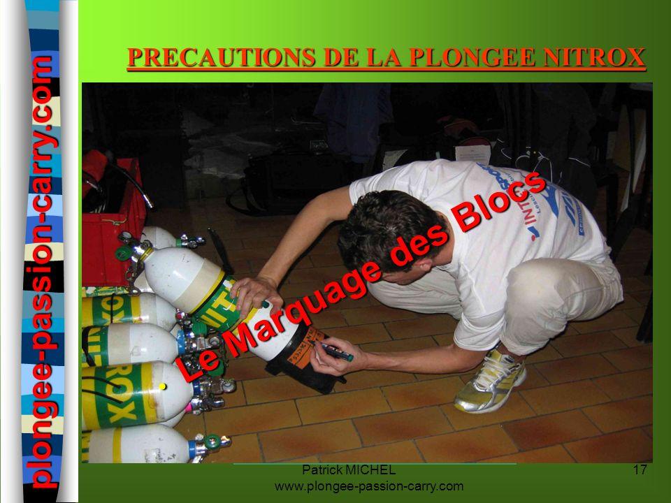 PRECAUTIONS DE LA PLONGEE NITROX