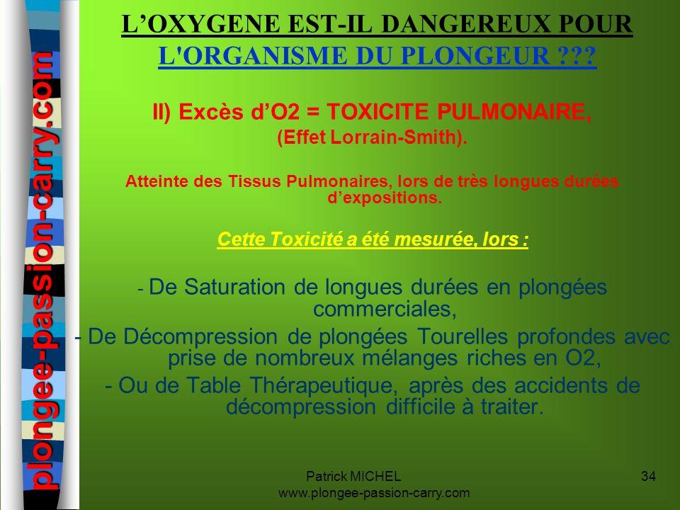 L'OXYGENE EST-IL DANGEREUX POUR L ORGANISME DU PLONGEUR