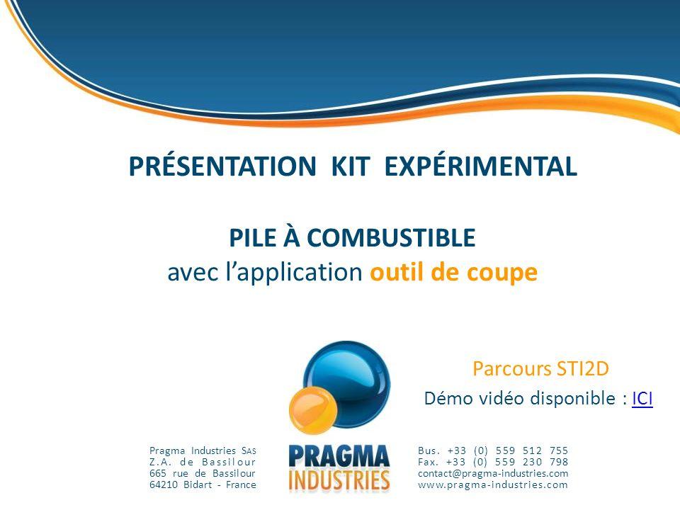 PRÉSENTATION KIT EXPÉRIMENTAL PILE À COMBUSTIBLE avec l'application outil de coupe Parcours STI2D Démo vidéo disponible : ICI
