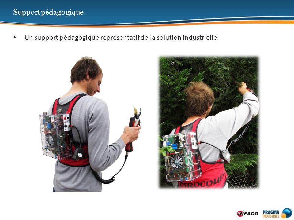 Support pédagogique Un support pédagogique représentatif de la solution industrielle