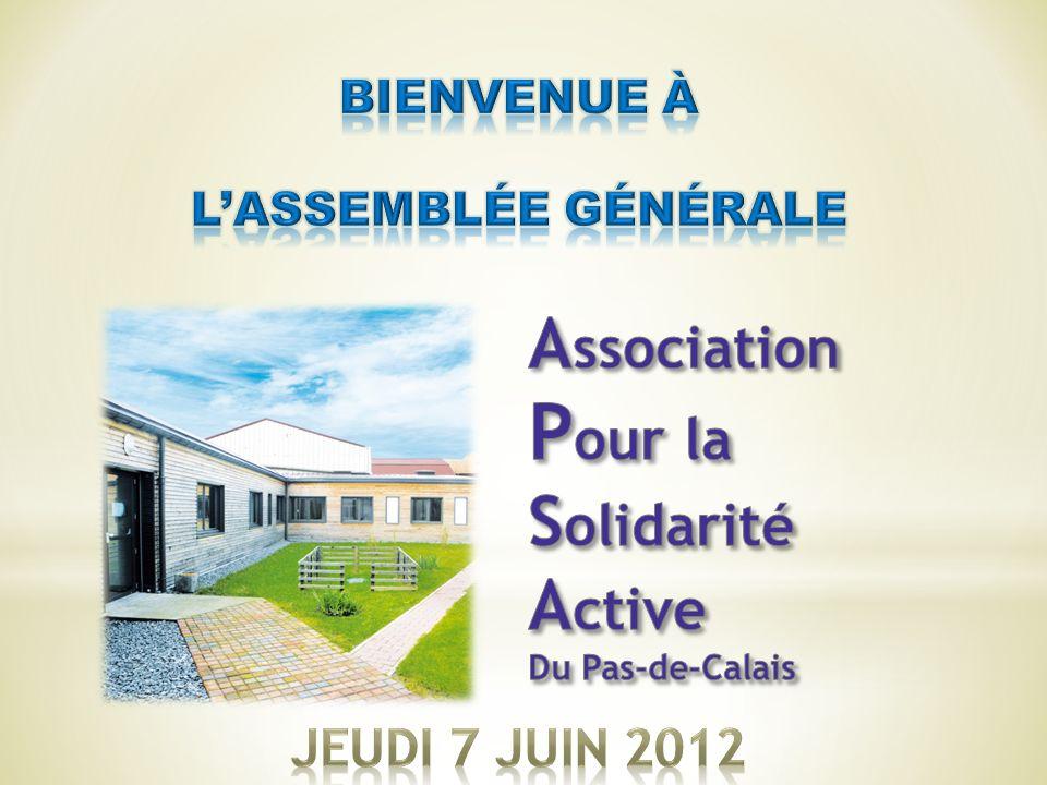 Pour la Association Solidarité Active Jeudi 7 Juin 2012 Bienvenue à