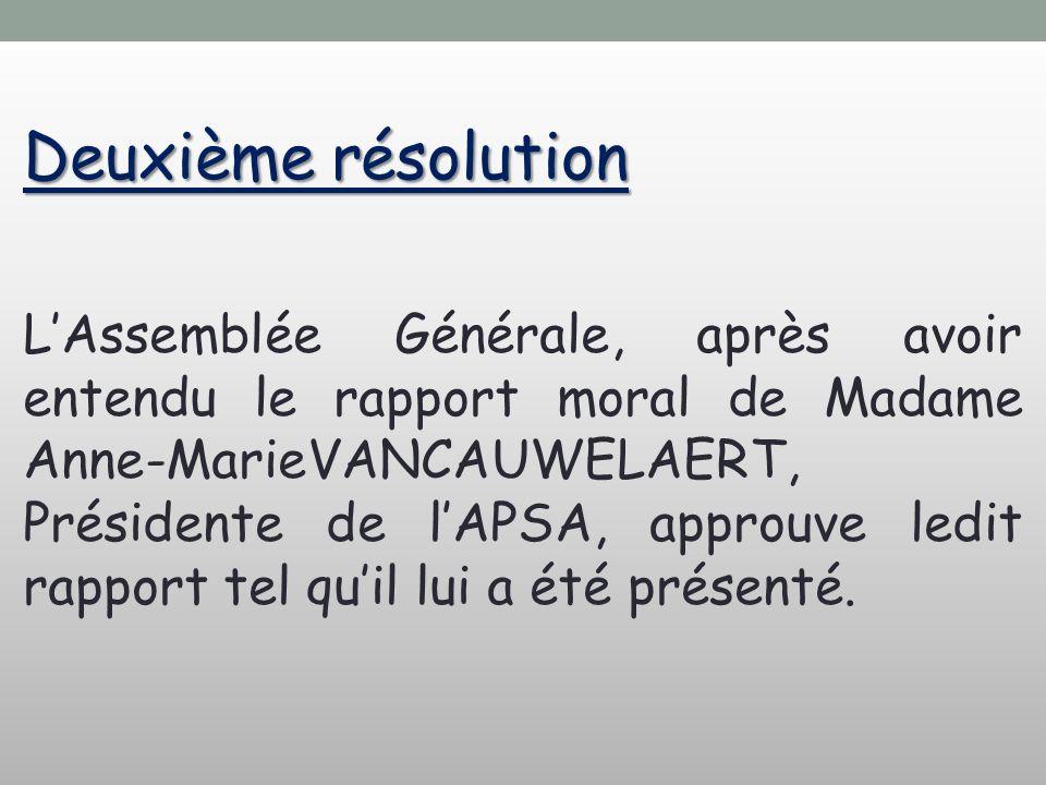 Deuxième résolution