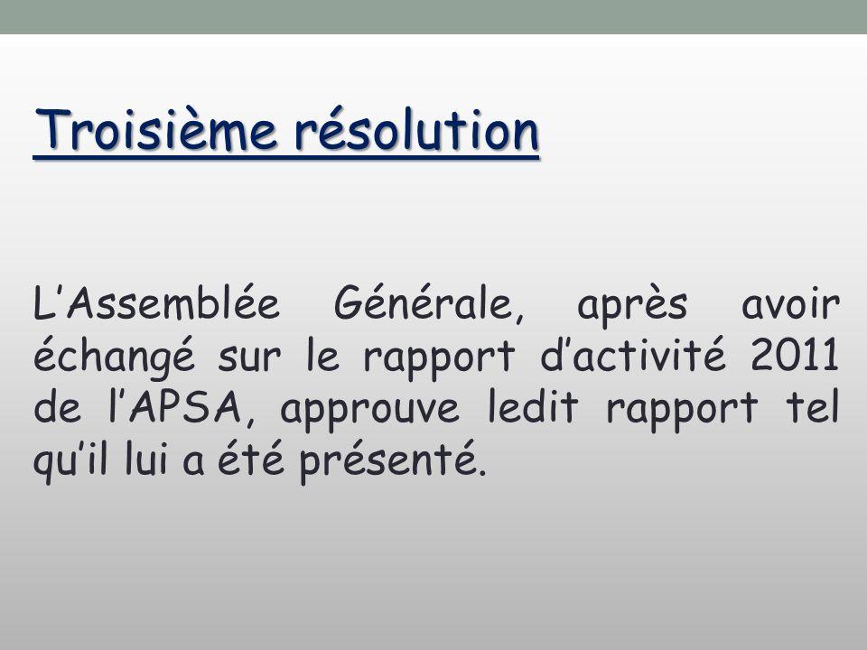 Troisième résolution