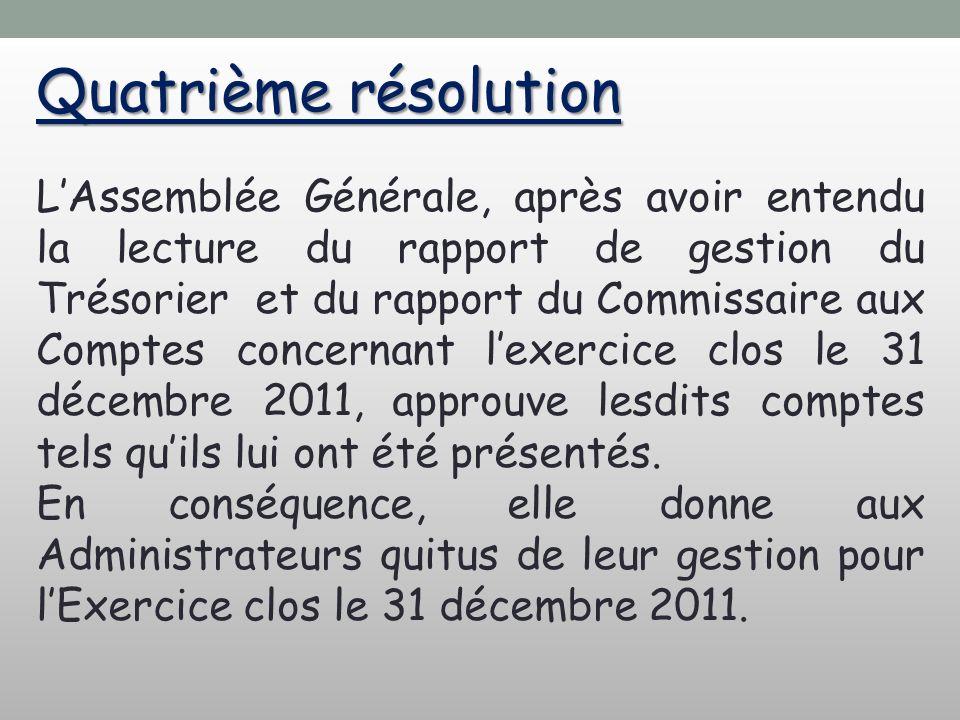 Quatrième résolution