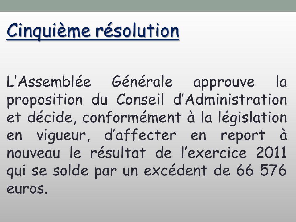 Cinquième résolution