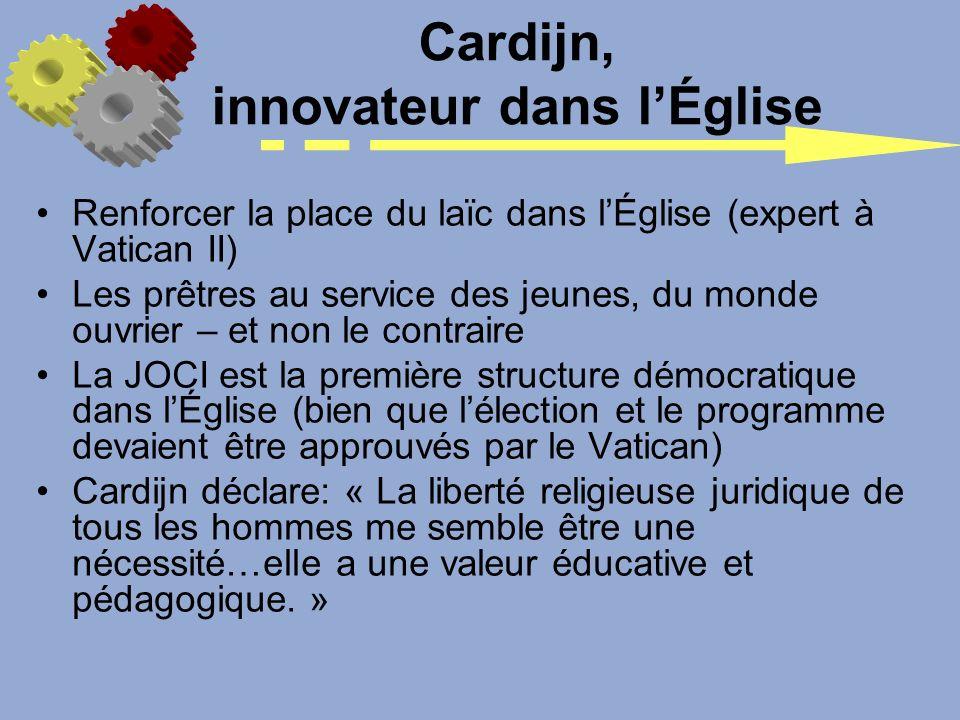 Cardijn, innovateur dans l'Église