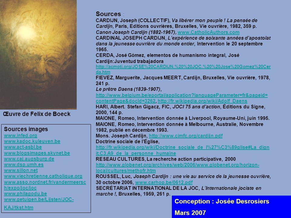 Conception : Josée Desrosiers Mars 2007