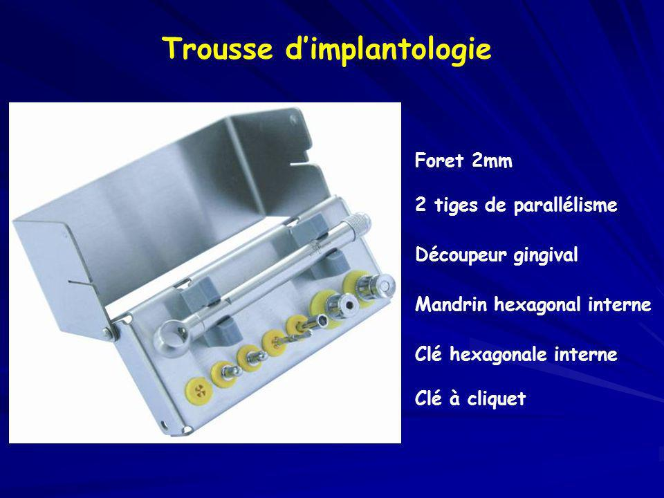 Trousse d'implantologie