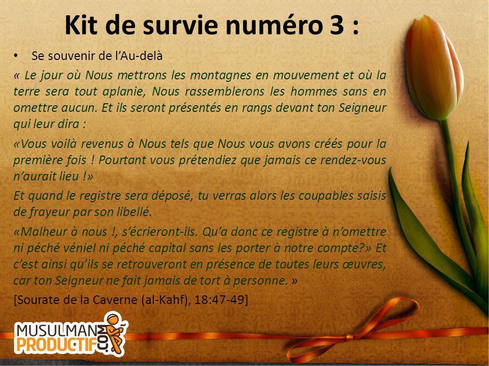 Kit de survie numéro 3 : Se souvenir de l'Au-delà