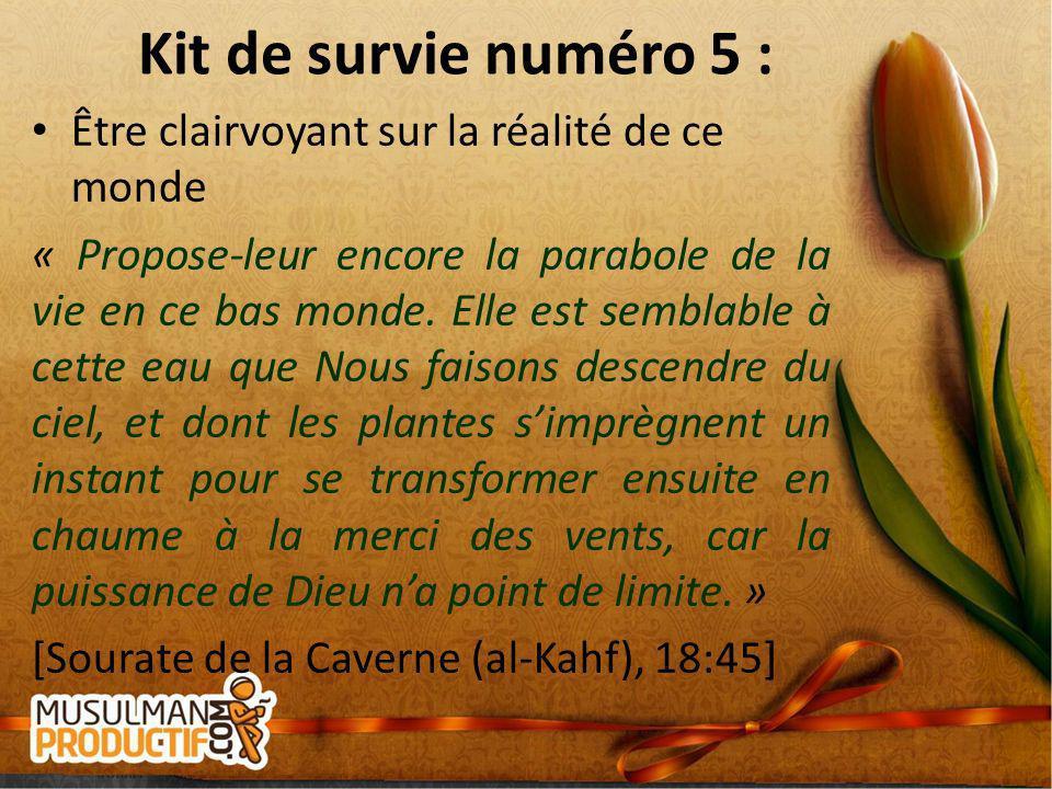 Kit de survie numéro 5 : Être clairvoyant sur la réalité de ce monde
