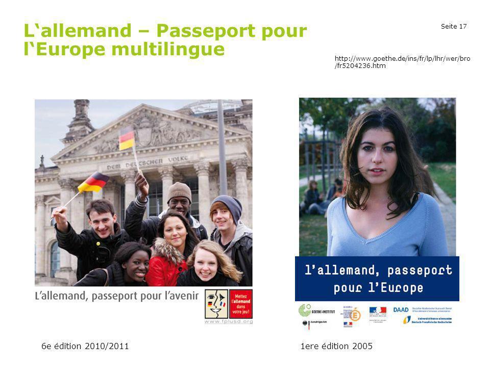 L'allemand – Passeport pour l'Europe multilingue