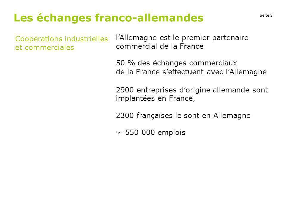 Les échanges franco-allemandes