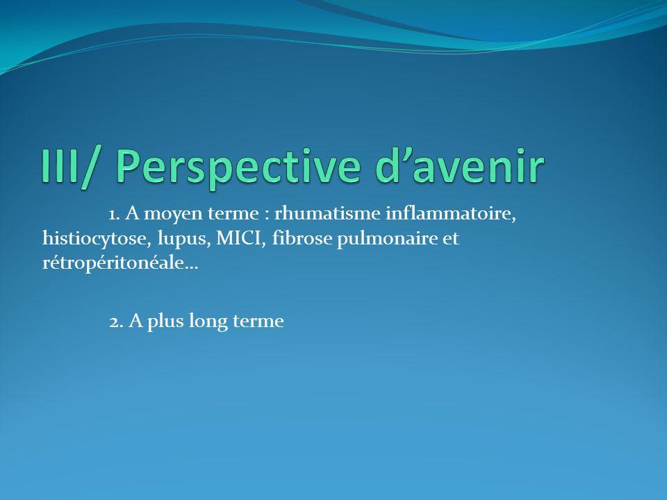 III/ Perspective d'avenir