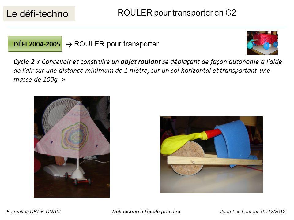 Le défi-techno ROULER pour transporter en C2
