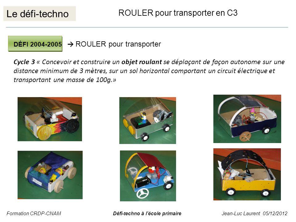 Le défi-techno ROULER pour transporter en C3