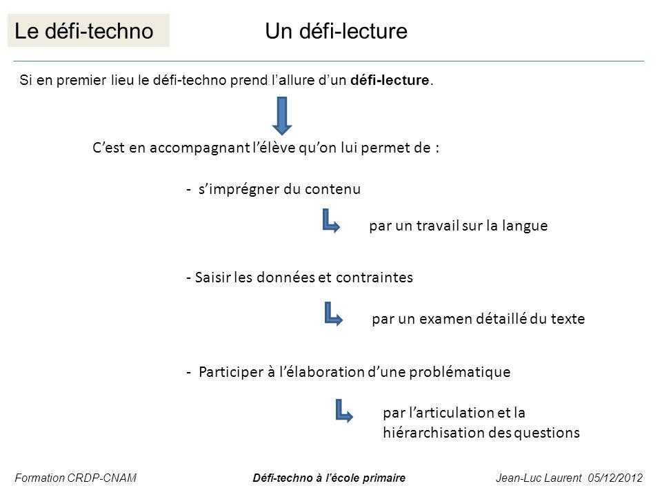 Le défi-techno Un défi-lecture