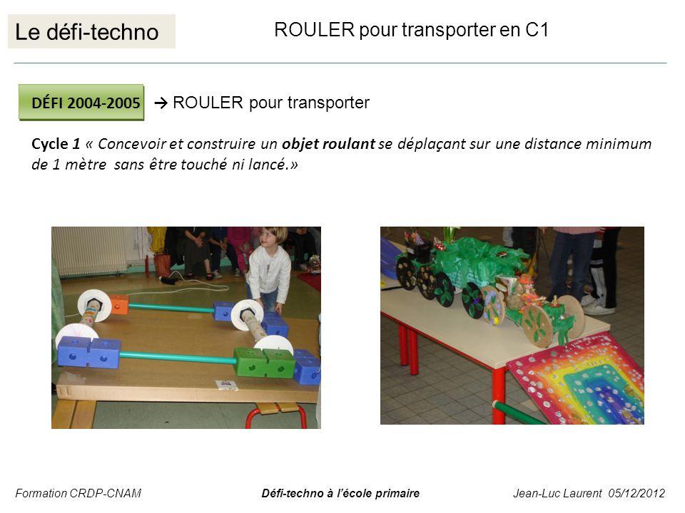 Le défi-techno ROULER pour transporter en C1