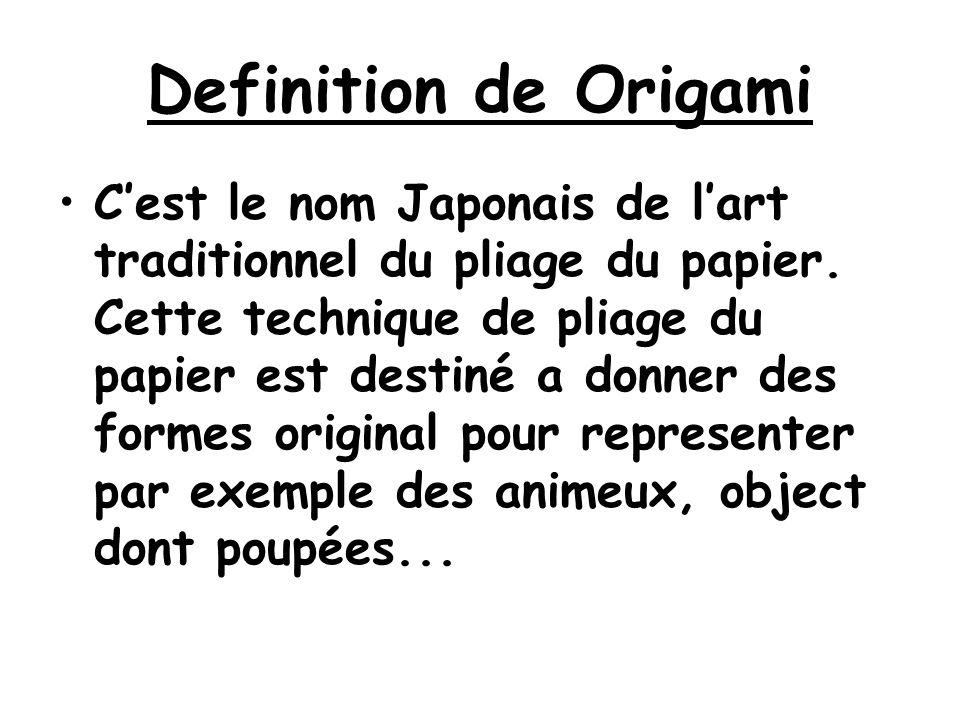 Definition de Origami