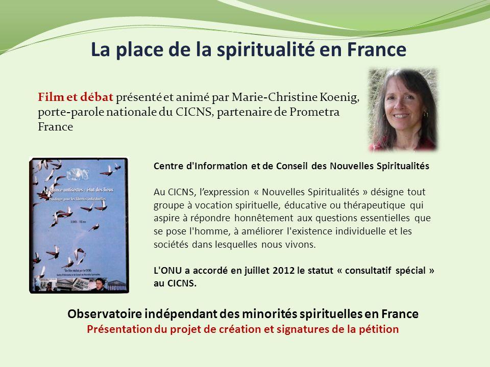 La place de la spiritualité en France