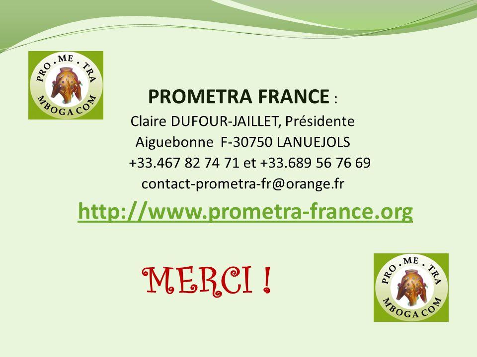 MERCI ! PROMETRA FRANCE : Claire DUFOUR-JAILLET, Présidente
