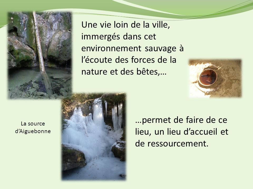 La source d'Aiguebonne
