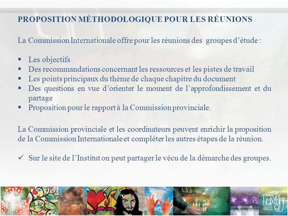 PROPOSITION MÉTHODOLOGIQUE POUR LES RÉUNIONS